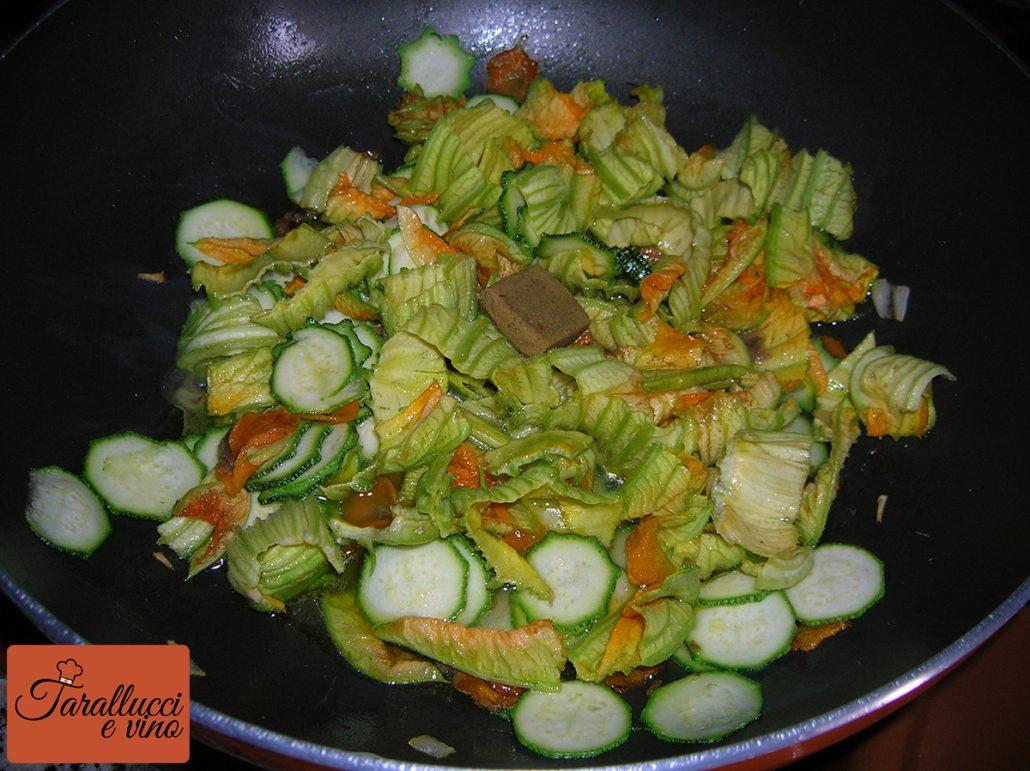 Fiori di zucca e zucchine