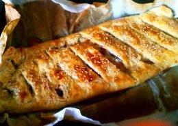 Strudel zucchine prosciutto cotto e formaggio