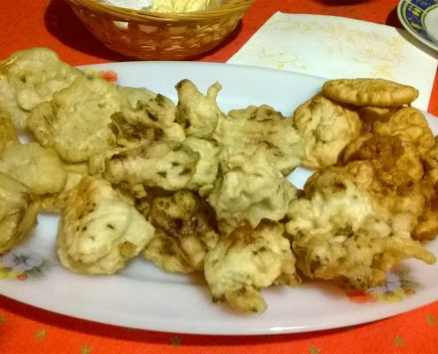 frittelle di broccoli e carciofi