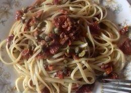 Linguine ai pomodori essiccati