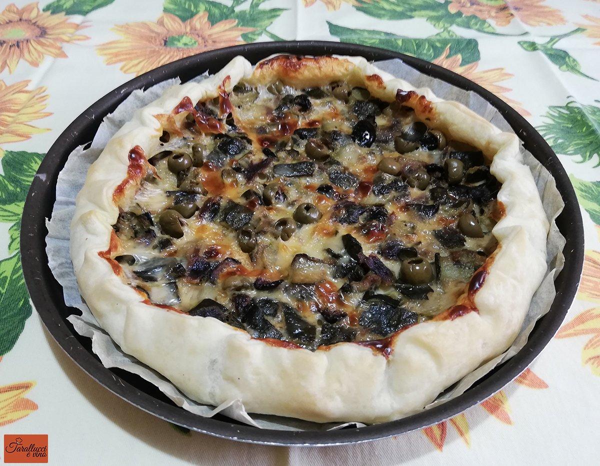 torta rustica con zucchine e olive