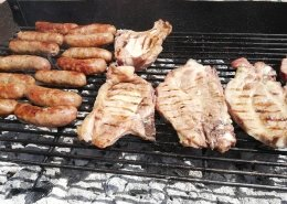 Grigliata di carne con patate