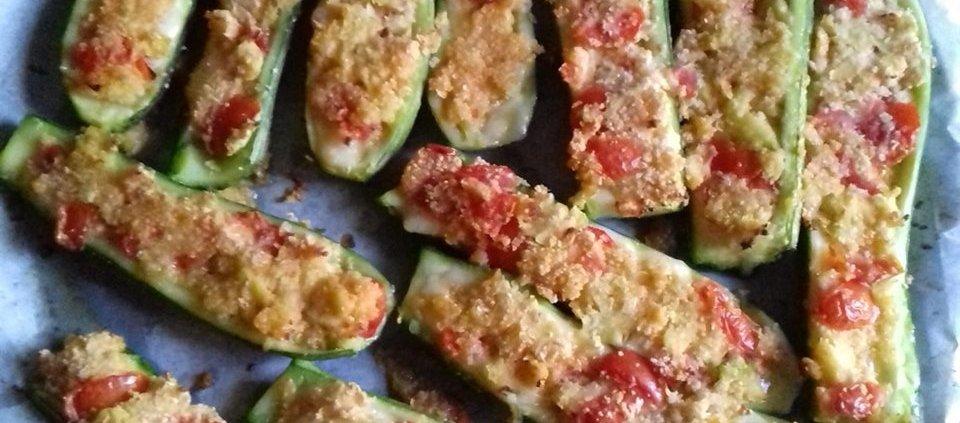 zucchine ripiene di formaggio