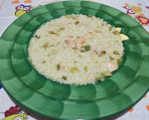 risotto zucchine e salmone