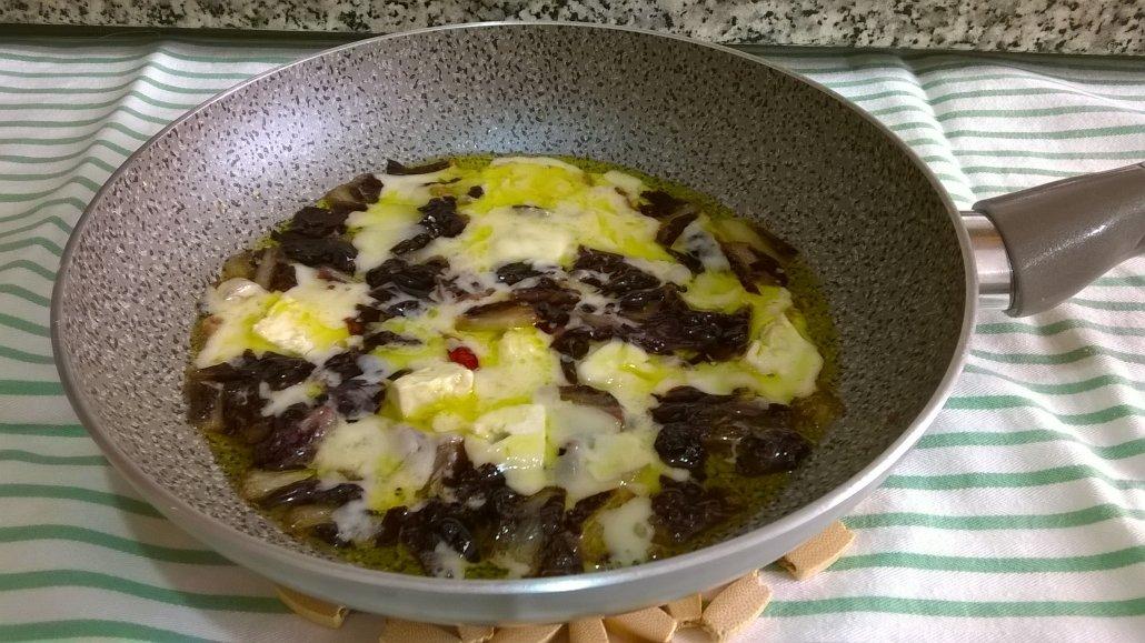 Orecchiette radicchio gorgonzola e galbanino