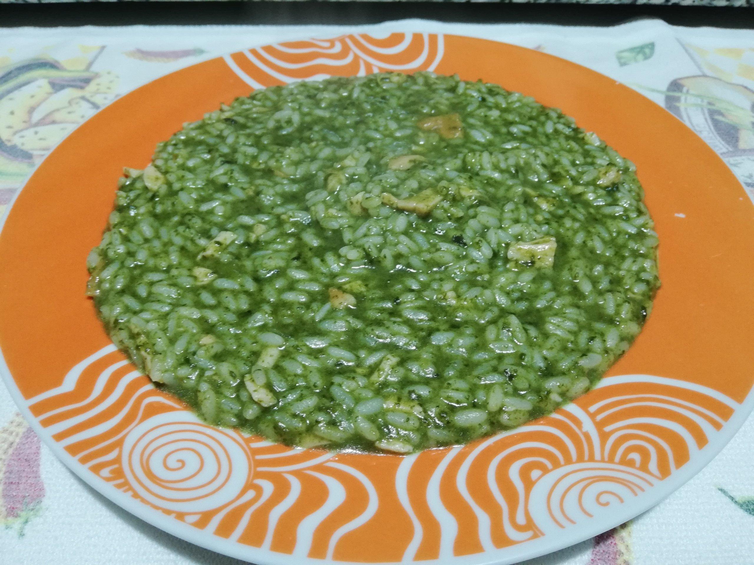 Risotto spinaci e salmone