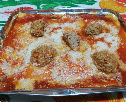 Lasagna con polpette
