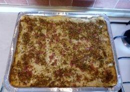 Lasagna pistacchi e prosciutto cotto